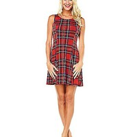 Plaid School Girl Dress - Spencer's