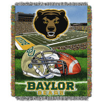 """Baylor College """"""""Home Field Advantage"""""""" 48x60 Tapestry Throw"""
