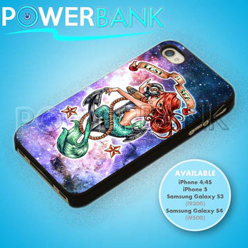 Little Mermaid Lost At Sea Disney - iPhone 4/4s/5 Case - Samsung Galaxy S3/S4 Case - Black or White