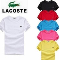 HOT LACOSTE MENS T-SHIRT 6 COLORS