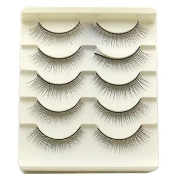 5 pairs Natural False Eyelashes Handmade Long Thick Black Crisscross Extension Eye Lashes Artificial Soft Fake Lash cheap Makeup