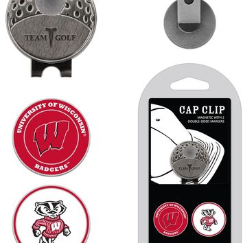 NCAA Wisconsin Badgers Hat Clip & 2 Magnetic Golf Ball Markers