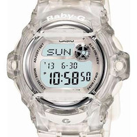Casio New Baby-G Whale - Crystal Clear - World Time Chronograph - 200 M