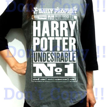 The Daily Prophet News Harry Potter Unisex Men Women Dark Gray Long Sleeve Baseball Shirt Tshirt Jersey