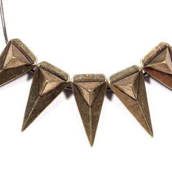 Tribal Arrowhead Studs Necklace Triangle Collar NL37