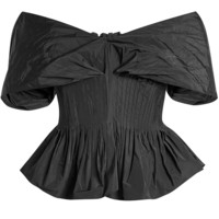 Off-Shoulder Top with Pleats - BROCK COLLECTION | WOMEN | KR STYLEBOP.COM