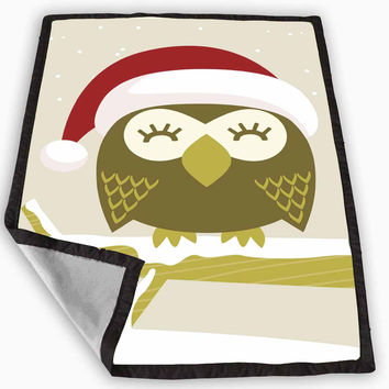 Christmas Owl Blanket for Kids Blanket, Fleece Blanket Cute and Awesome Blanket for your bedding, Blanket fleece **