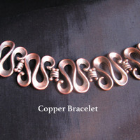 Copper Jewelry, bracelet antique old