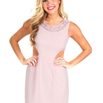 One Sweet Day Dusty Pink Peep Side Dress | Monday Dress Boutique