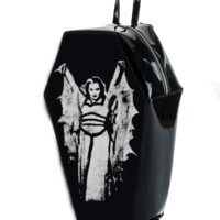Lily Munster Bat Wing Coffin Back Pack