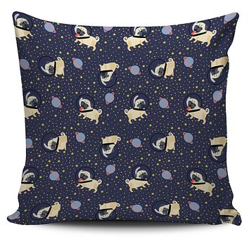 Space Pug Pillow Cover