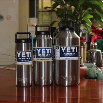 18OZ 64OZ Hot bilayer stainless steel insulation Cup YETI mugs cars beer mug cup water Sports Big Capacit Keep Hot and Cold