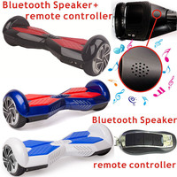 6.5inch Bluetooth Music Balance Scooter & Remote Controller key Adult LED Light Car 2 wheels self standing electric scooter