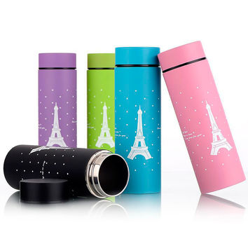 Eiffel Tower Thermos Cup Mug Vacuum Cup 304 Stainless Steel Thermos Insulated Mug 260ML Thermal Bottle  Vacuum Flask Cups U0600