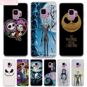 MOUGOL nightmare before christmas Style Clear hard Phone Case Cover for Samsung S9 S9Plus S8 S8Plus S6 S7 edge S5 Note8 5 4