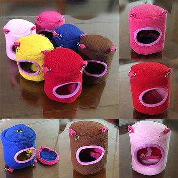 Small Pet Animal Hamster Squirrel House Bed Hammock Warm Hanging Nest Cage Toy