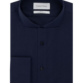 Calvin Klein Slim Fit Houndstooth Dress Shirt