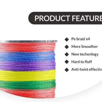 Erchang 300M PE Fishing Line Super Strong Japanese colorful Multifilament PE Material Braided Fishing Line Color Braided Wires