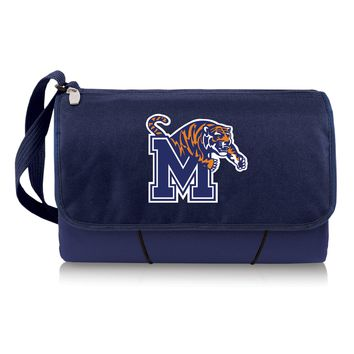 Memphis Tigers 'Blanket Tote' Outdoor Picnic Blanket-Navy Digital Print
