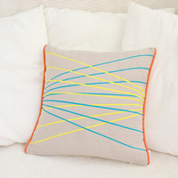 Decorative linen pillow cover with Perspective design