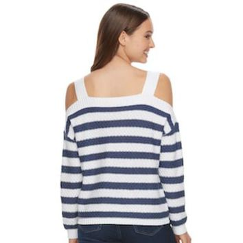 ONETOW Juniors' SO® Cold-Shoulder Long Sleeve Top | null