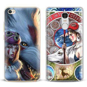 Princess Mononoke Anime Coque Phone Case Shell Cover  For Xiaomi Redmi Note 4 4X 5A 6 6A PRO Mi 8 5 5S PLUS Max A1 Note 2 3