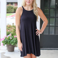 Racerback Tank Dress - Black