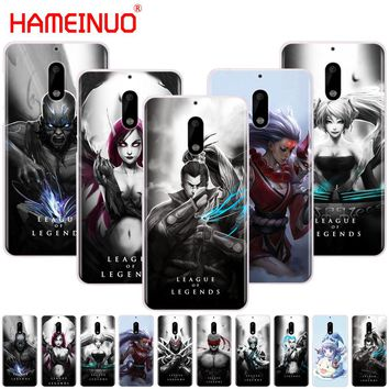 HAMEINUO League of Legends lol Hero cover phone case for Nokia 9 8 7 6 5 3 Lumia 630 640 640XL 2018