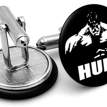 Incredible Hulk Black Cufflinks