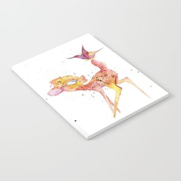 Bambi Meets Butterfly Notebook by Salome