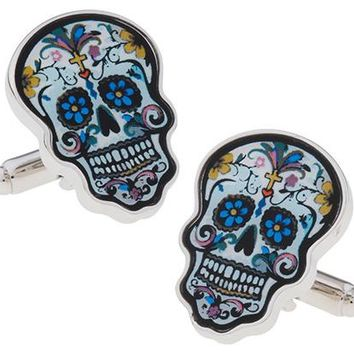 Free Shipping Skull Cufflinks Sugar Dead Skeleton Design Hyperbole Style Cuff Links