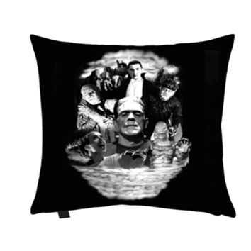Monster Collage Pillow