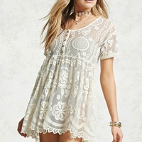 Sheer Lace Babydoll Dress