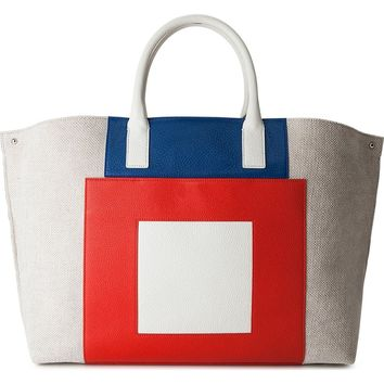 Akris Medium AI Leather & Canvas Tote | Nordstrom