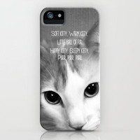 Soft Kitty iPhone Case by Beth - Paper Angels Photography | Society6