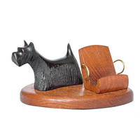 """Wooden Phone Stand """"SCOTCH TERRIER"""". IPhone 6/5/4S/4/3GS Wood Table Stand. Wooden Smart Phone Stand. Handcrafted Natural Ash-Tree"""
