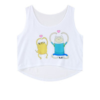 Crop Top Sleeveless Dogs Tank Top = 4823996740