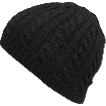 Warm Unisex Women Men Cable Knitted Warm Crochet Hats Braided Baggy Beret Cuffless Beanie Caps INY66