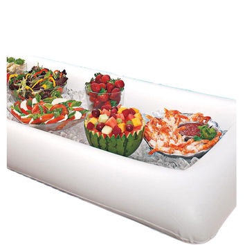 Summer Party Inflatable Salad Bar Buffet Ice Bucket Outdoor Swimming Pool Decoration