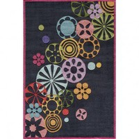 Momeni Lil' Mo Hipster Black Kids Rug - LMOTWLMT-8BLK - Multi-Colored Rugs - Area Rugs by Color - Area Rugs