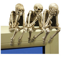"""See, Speak and Hear No Evil"" Shelf Sitters"