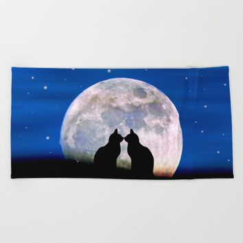 The Love Cats Beach Towel by Pirmin Nohr