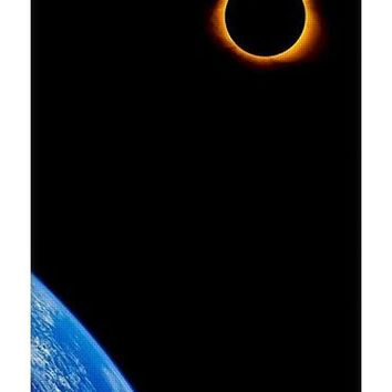 Solar Eclipse From The Space By Adam Asar - Yoga Mat