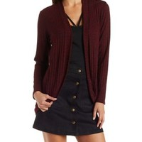Ribbed & Marled Cocoon Cardigan by Charlotte Russe