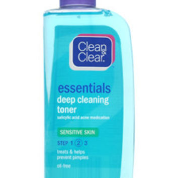 essentials deep cleaning toner for sensitive skin step 2 by clean & clear