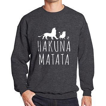 New arrival 2017 spring sweatshirt winter hoody fleece HAKUNA MATATA funny letter print hot men's sportswear hoodies harajuku