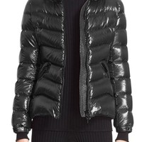 Moncler Anthia Water Resistant Shiny Nylon Hooded Down Puffer Jacket | Nordstrom