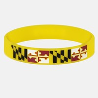Maryland Flag Motivational Wristband