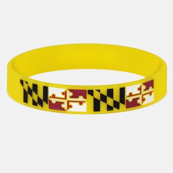 Maryland Flag Wristband