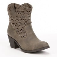 Mudd Crochet Western Booties - Women